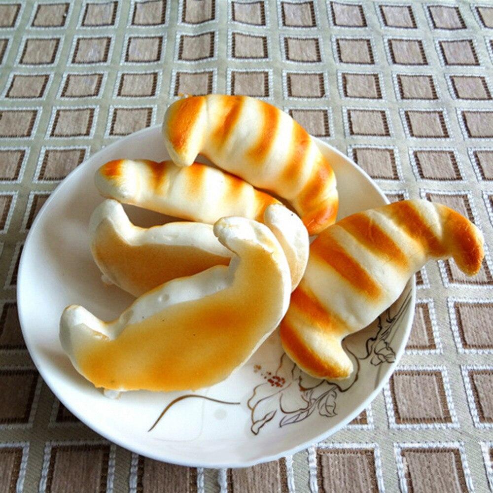 Figures Croissants Bread-Action-Toy Miniature Food-Stripe 1PC 8CM Charm Decorative-Craft