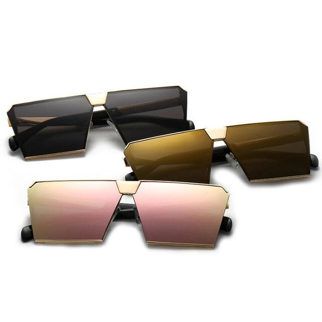 35d8c5e98bc63 Quadrado moda de Luxo óculos de Sol Das Mulheres Designer De Marca  Celebridade Mens Oversized óculos