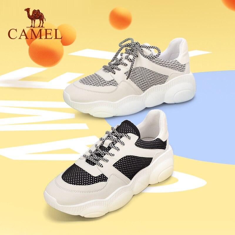 moda Comfort Studente Lace donna Cammello signore primavera scarpe Platform Casual Nero Retro per bianco Ins le moda B6wI7wxH