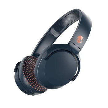 Skullcandy Riff Wireless-Headphones headband wireless with microphone and Bluetooth, blue/orange