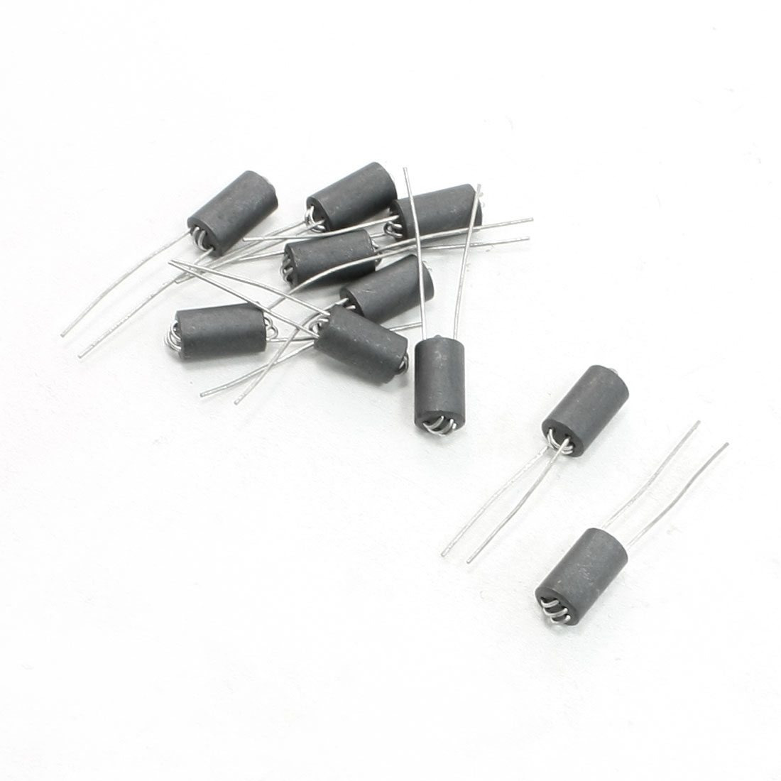 UXCELL 10 Pcs 6 x 10mm Lead Dia 0.8mm Axial Lead 6 Channel Ferrite Beads Inductors for Easy Plug