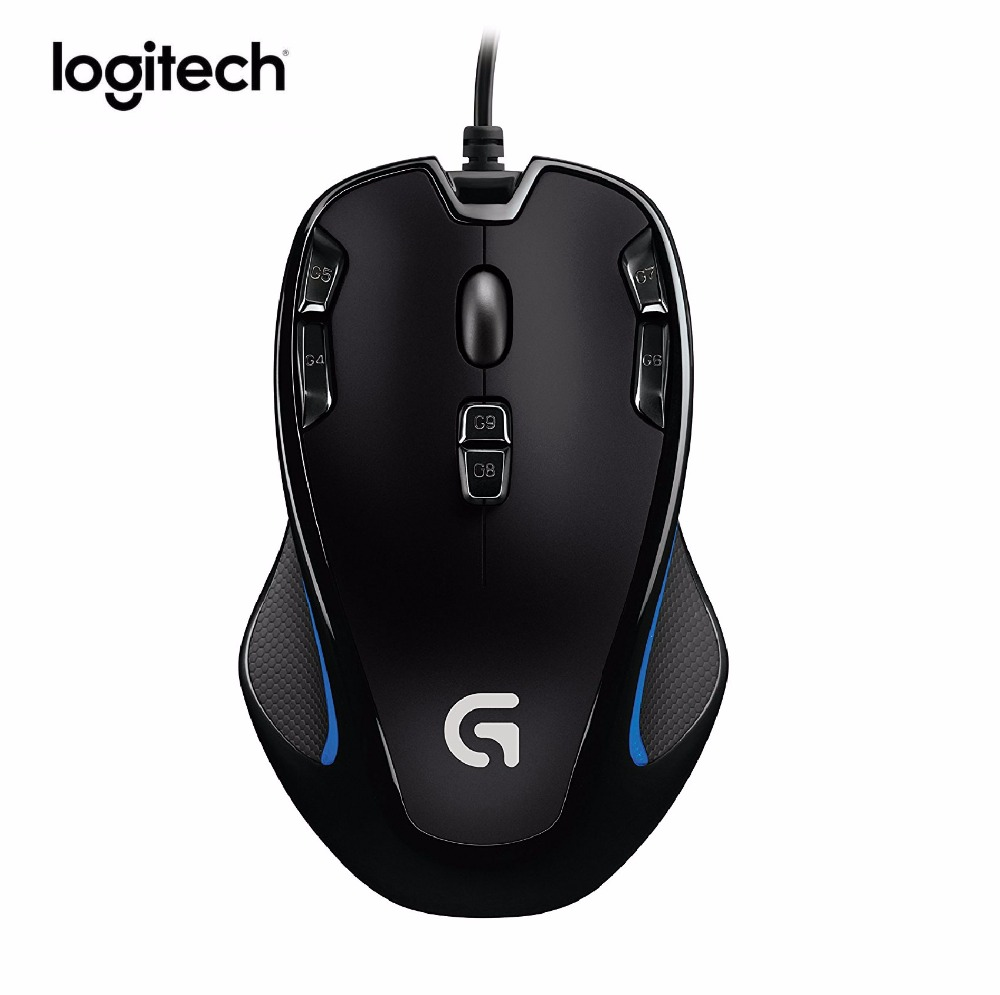 Logitech G300s Gaming Mouse 2500DPI Ergonomic Wired Optical PC Gamer Mouse Gamer For PC Laptop logitech g90 usb 2 0 2500dpi wired led optical gaming mouse