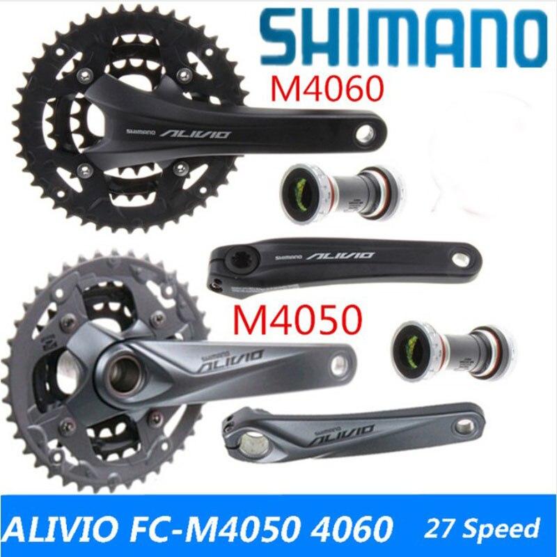 SHIMANO ALIVIO FC-M4060 FC-T4060 FC-M4050 FC-M4000 pédalier 3*9 s 27 S vtt vélo arbre de pignon de pièces de vélo Comprennent BB51