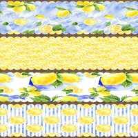 Else amarillo azul limones hoja verde camino de mesa de tela decoración para cocina comedor boda cumpleaños 40X140CM