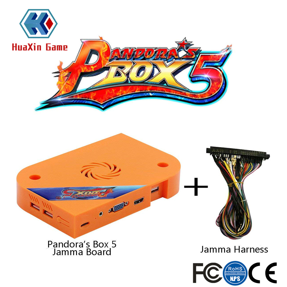 The genuine official original Pandora box 5 Arcade JAMMA Version 960 in 1 Game board HDMI / VGA Output Full HD 720P pandora box 5 960 in 1 arcade version jamma version orange multi game board hdmi vga output hd 720p jamma board arcade machine