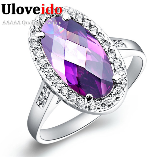 Uloveido Fantasy Wedding Rings for Women Silver Color Ring with