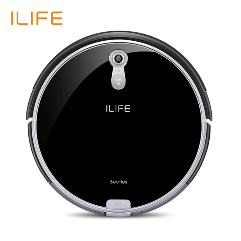 NEW Robotic Vacuum Cleaner ILife A8 For home with Camera Navigation Smart Robot Vacuum Cleaners Piano Black Color cleanmate qq6 robot vacuum cleaner black