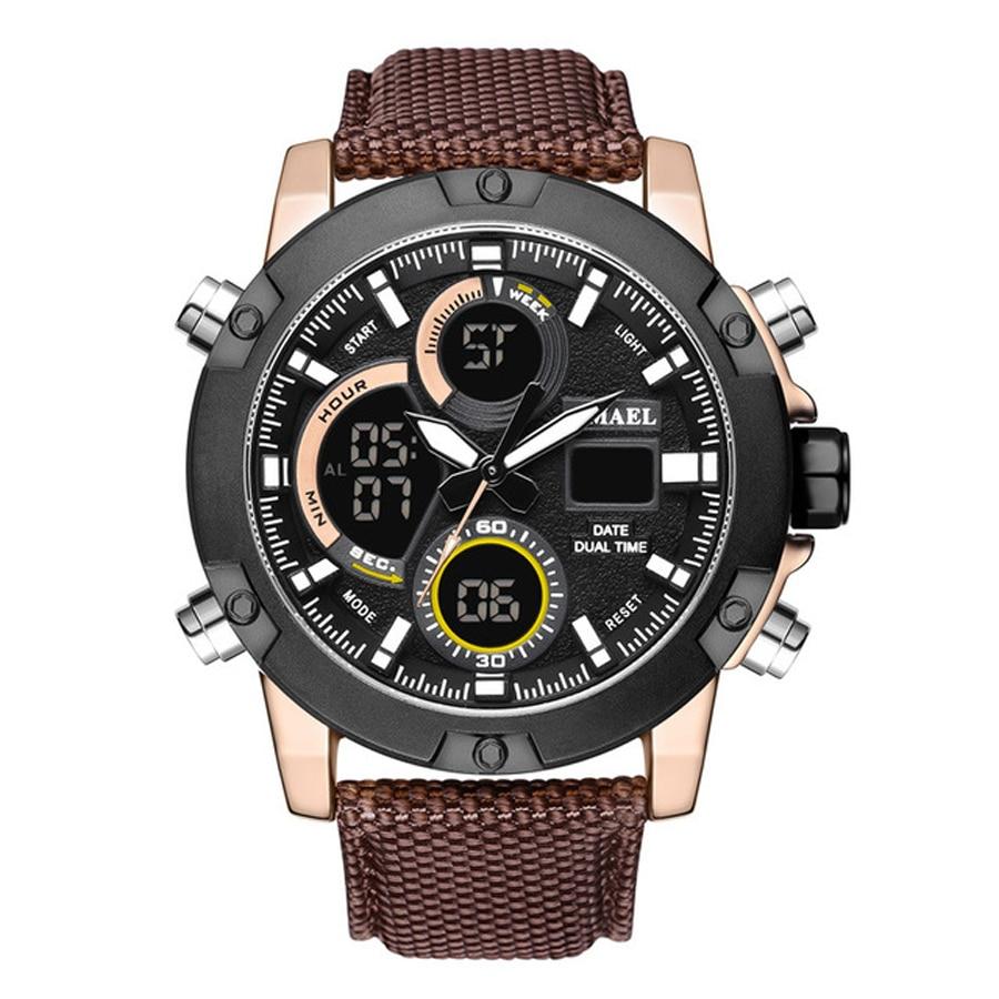 2018 Luxury Top Brand Men Military Sport Watches Men's Digital Quartz Clock Full Steel Waterproof Wrist Watch relogio masculino
