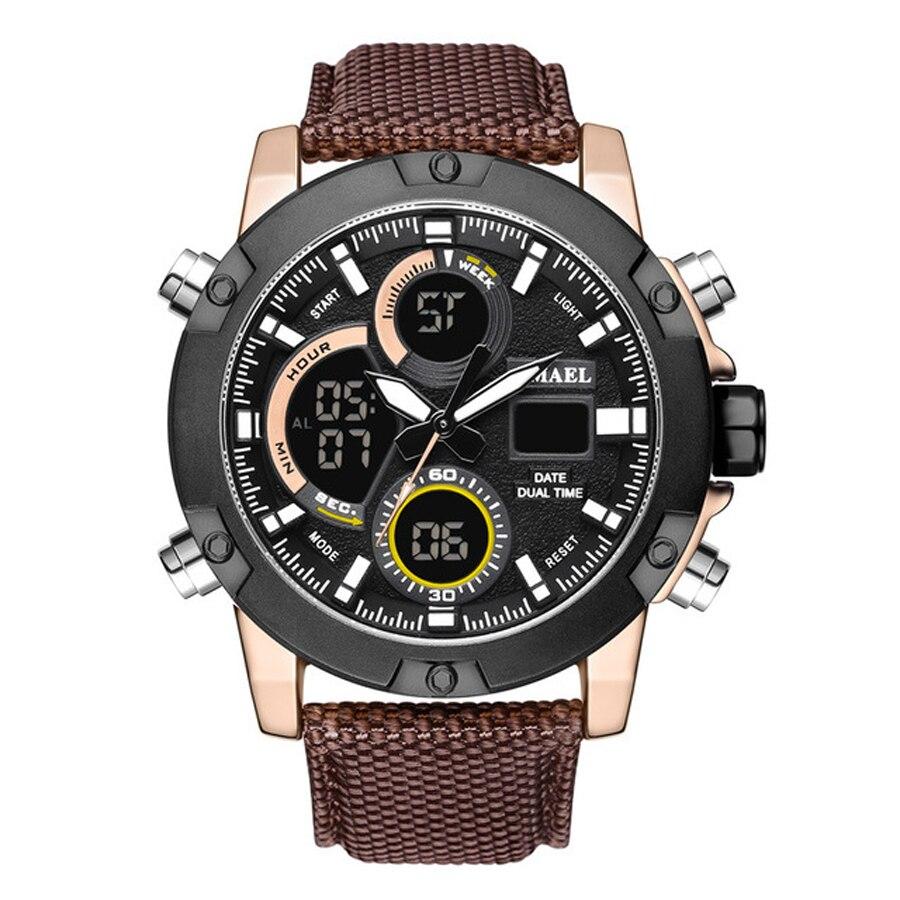 2018 luxe Top marque hommes Sport militaire montres hommes numérique Quartz horloge pleine acier étanche montre-bracelet relogio masculino
