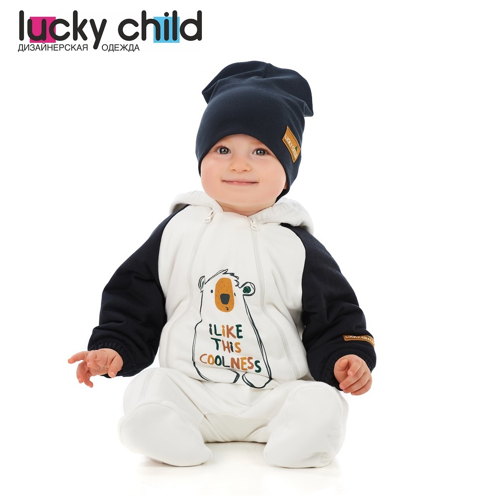 Jumpsuit Lucky Child for girls and boys 63-71f winter holidays Children's clothes kids Rompers for baby new baby rompers winter thick warm baby boy clothing long sleeve hooded jumpsuit kids newborn outwear for 0 36m