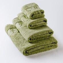 Полотенце «Бамбук». Цвет салатовый.