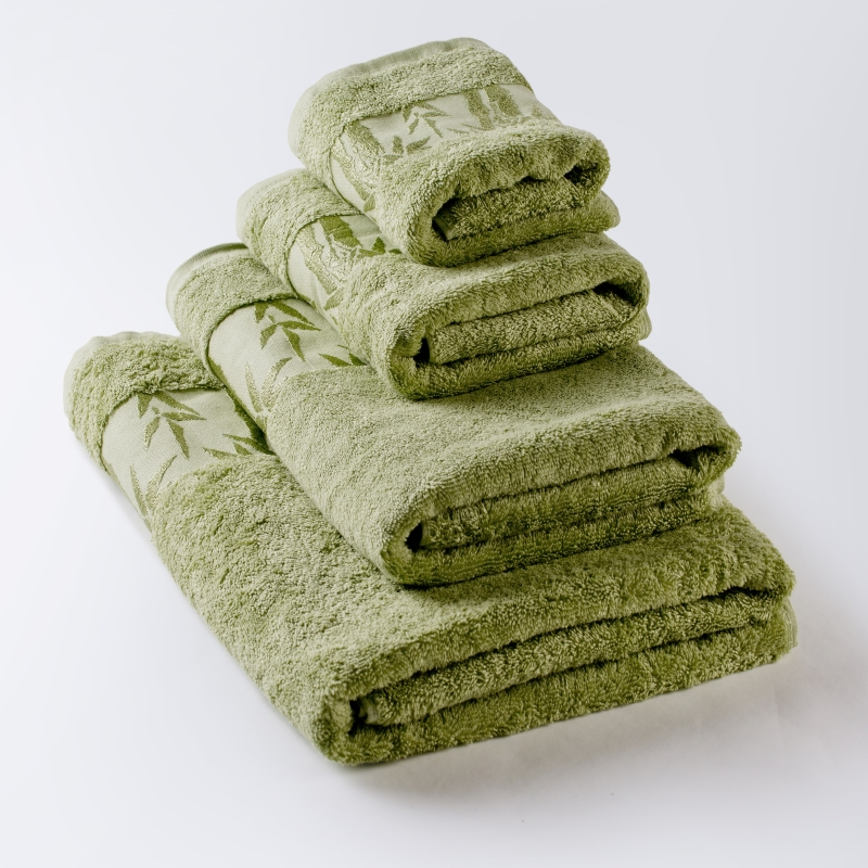 Towel Bamboo Luttuce Green, production of Ecotex, Russian companies. bed linen set cassandra collection estetica fabric of satin jacquard production of ecotex russian companies