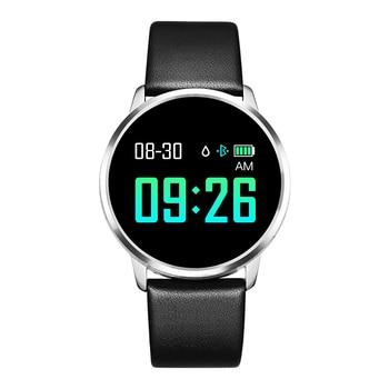 RUNDOING Q8 Smart Watch OLED Color Screen Smartwatch women Fashion Fitness Tracker Heart Rate monitor 7