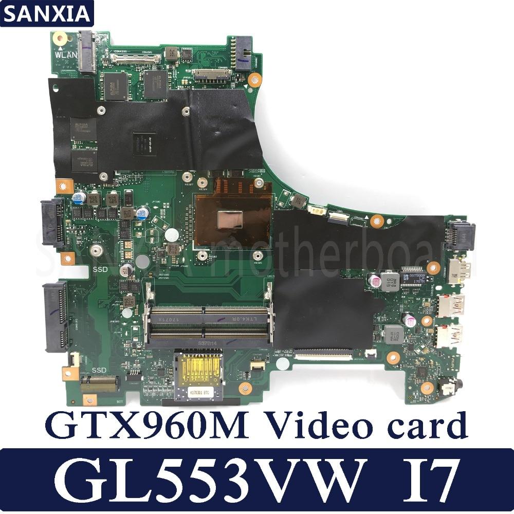 KEFU ROG GL553VW Laptop motherboard for ASUS GL553VW GL553VD GL553E GL553V GL553 Test original mainboard I7-6700HQ GTX960M korean laptop keyboard for asus gl553 gl553v gl553vw zx553vd zx53v zx73 fx553vd fx53vd fx753vd fz53v kr keyboard with backlit