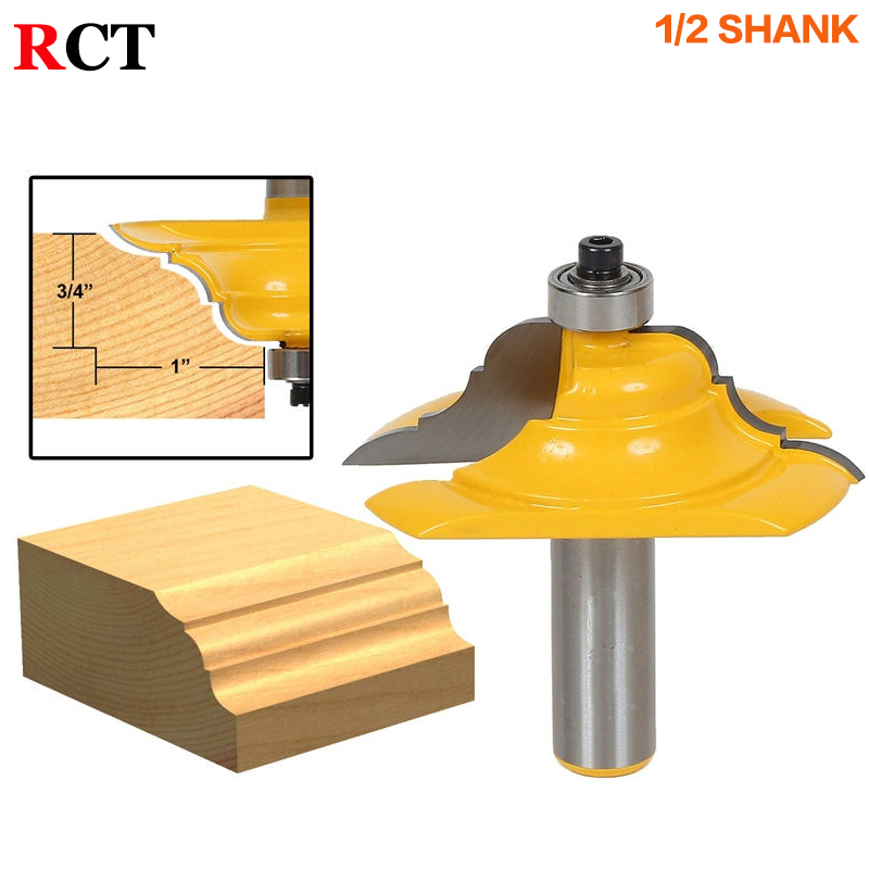1Pc Table Edge Router Bit - French Baroque 1/2 Shank Line knife Woodworking cutter Tenon Cutter for Woodworking Tools high grade carbide alloy 1 2 shank 2 1 4 dia bottom cleaning router bit woodworking milling cutter for mdf wood 55mm mayitr