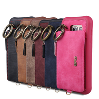 Hot Luxury Wallet Holster Cases For Apple IPhone 6 Plus 6S 7 PU Leather Phone Bag
