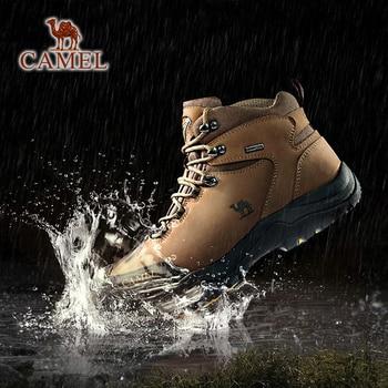 CAMEL Men Women High Top Hiking Shoes 2019 Durable Waterproof Anti-Slip Outdoor Climbing Trekking Shoes Military Tactical Boots 2