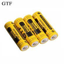 GTF 4pcs 14500 3.7V 2800mAh Rechargeable Li-ion Battery for LED Flashlight  все цены