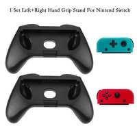 1 Set Sinistra + Destra ABS Presa della Mano Del Basamento di Sostegno Del Supporto per NS Joy-Con A Mano Grip Per Nintend interruttore Joy-Con Controller