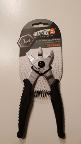 SUPER B TB-3323  bike chain magic button clamp remover and connect tools chain repair tools 2 in 1 Master link pliers-trident