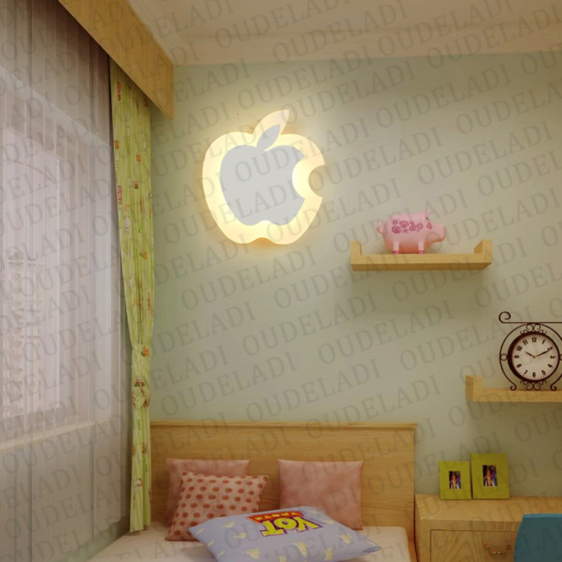 Image 3 - Modern Acrylic wall light Childrens room bedside bedroom LED wall lamps arts creative Corridor Aisle Sconce Decor AC85 265VLED Indoor Wall Lamps   -