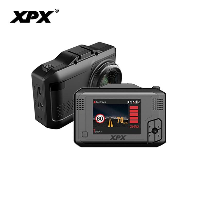 Car camera XPX Dash cam Car dvr 3 in 1 GPS Radar DVR SFHD 1296P Ambarella