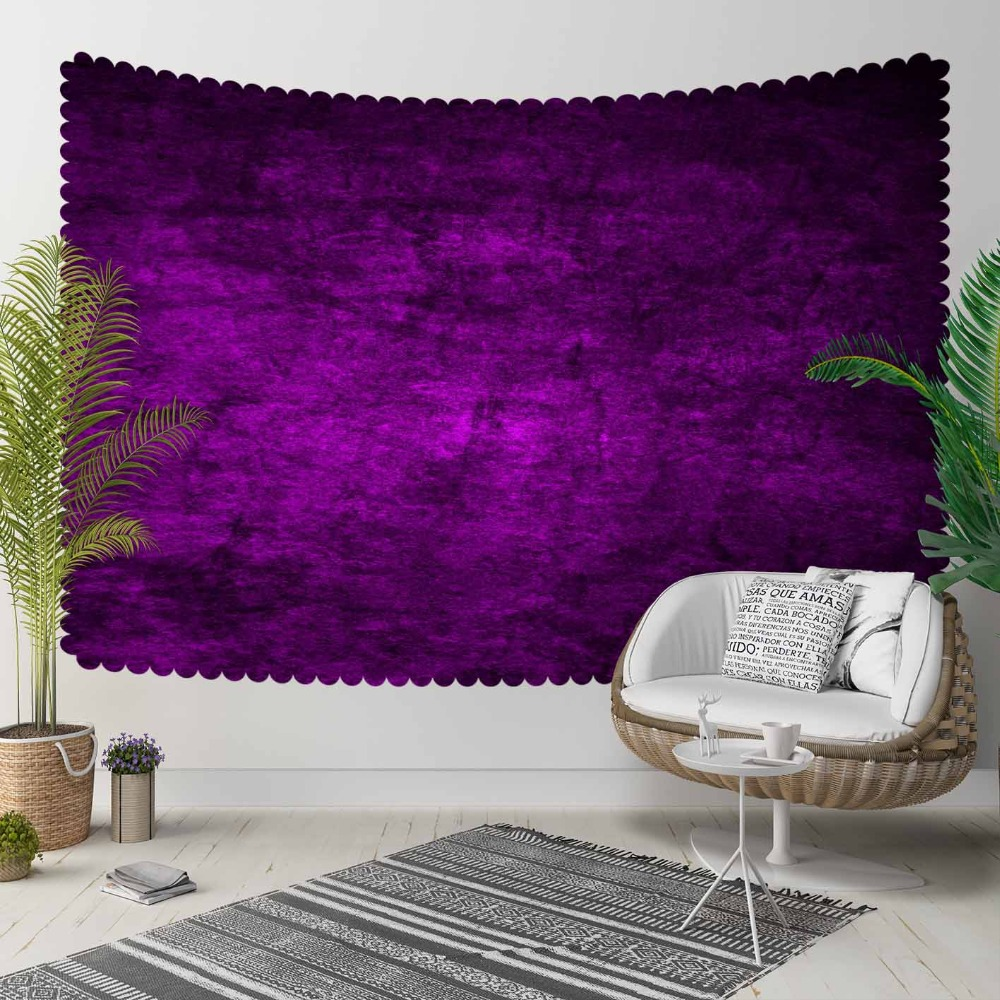 Else Purple Vintage Abstract Watercolor Aging Shine 3D Print Decorative Hippi Bohemian Wall Hanging Landscape Tapestry Wall Art