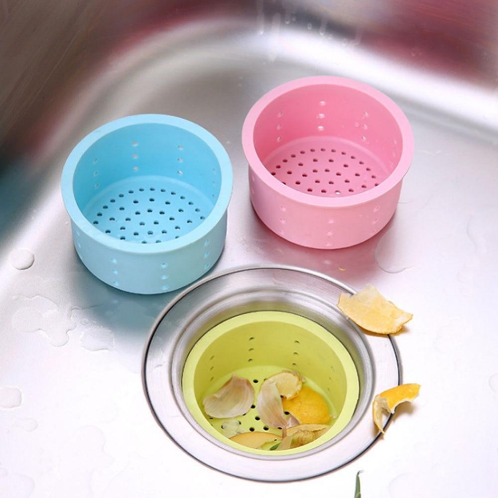 scarico del lavandino della cucina in silicone di protezione ambientale fogna lavello filtro capelli bagno