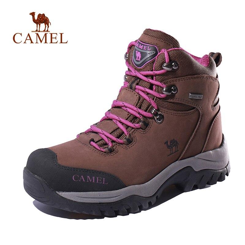 CAMEL Women High Top Hiking Shoes Durable Anti Slip Warm Outdoor Climbing Trekking Shoes Military Tactical