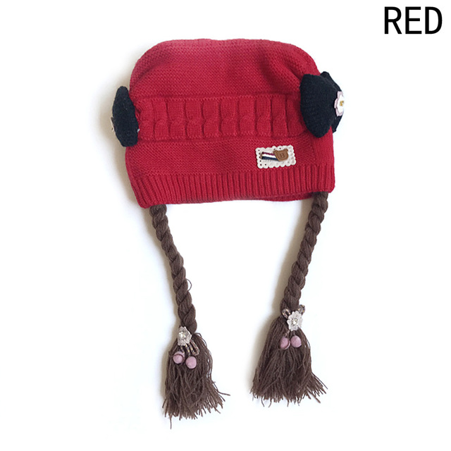 Giraffita Kids Winter Hats For Children Girls Knitted Wool Earflap ...