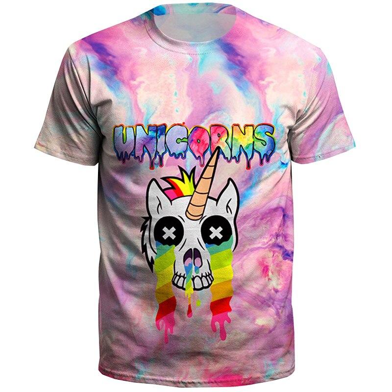2018 Summer Fashion Plus Size Man T Shirt Dabbing Pug T-Shirt Newest Men Funny T Shirts Dabbing Unicorn Printed Tops Hip Hop Tee
