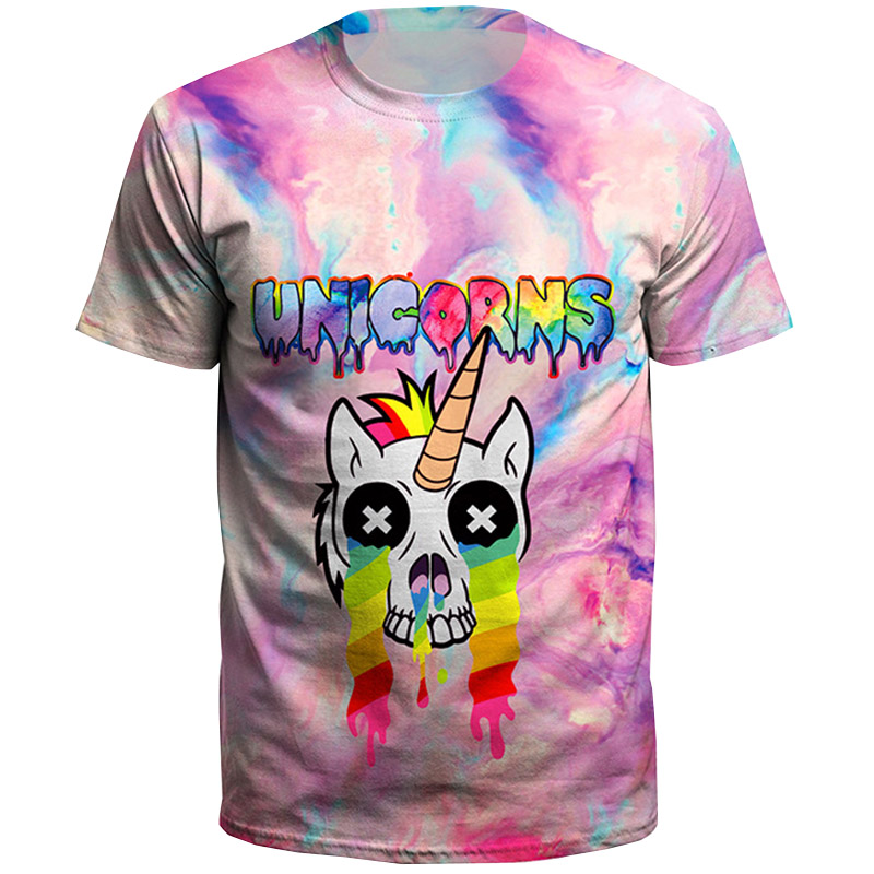 2018 Summer Fashion Plus Size Man T Shirt Dabbing Pug T-Shirt Newest Men Funny T Shirts Dabbing Unicorn Printed Tops Hip Hop Tee