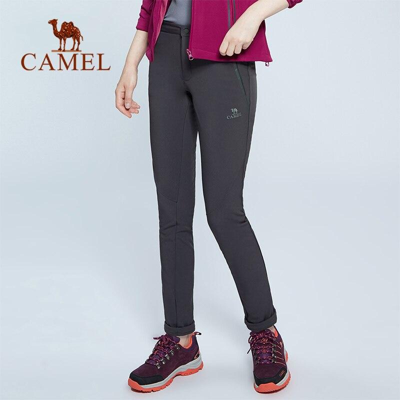 CAMEL Женские походные брюки на открытом воздухе Softshell брюки ветрозащитные непромокаемые осенние зимние спортивные альпинистские тактически...