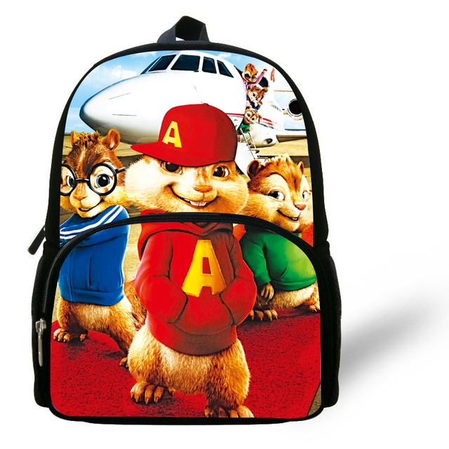 2334b5ea1719 12-inch Children Cartoon Bag Alvin and the Chipmunks Backpack Kids Boys  Mochila Escolar Infantil Mini School Bags For Girls