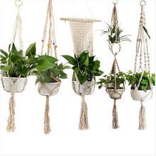 Пеньковая веревка, стеклянная корзина для террариума, украшение для растений, новые подарки, сделай сам, ручная работа, плетеная вешалка, горшок, садовые цветочные горшки, настольное растение
