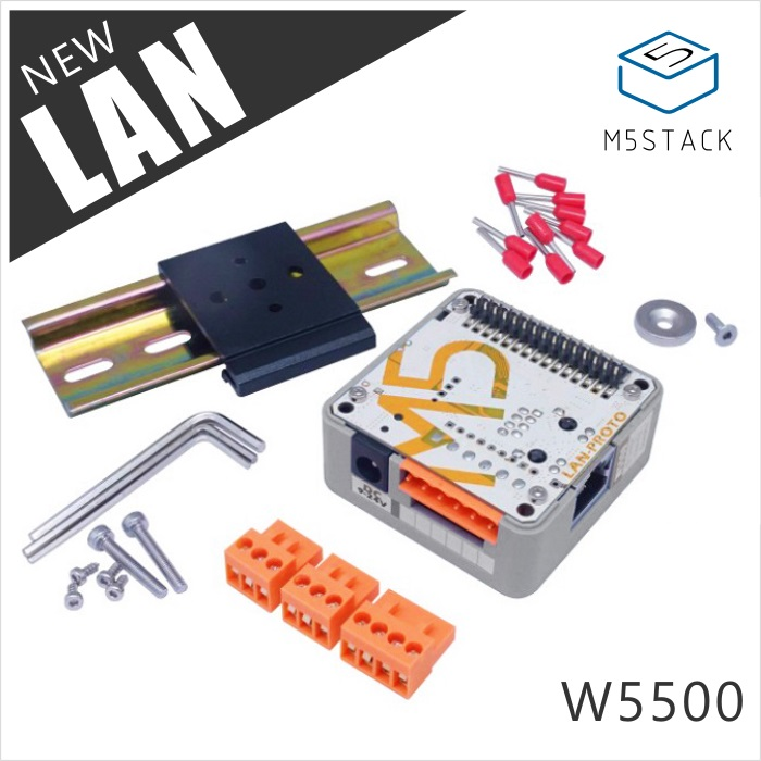 Official M5Stack LAN Module With W5500 Chip LanProto Ethernet Convert Network Module Microcontroller For Arduino 9-24V To 5V