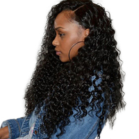360 Lace Frontal Wigs For Black Women Curly Wig With Baby Hair Pre Plucked 180 Density