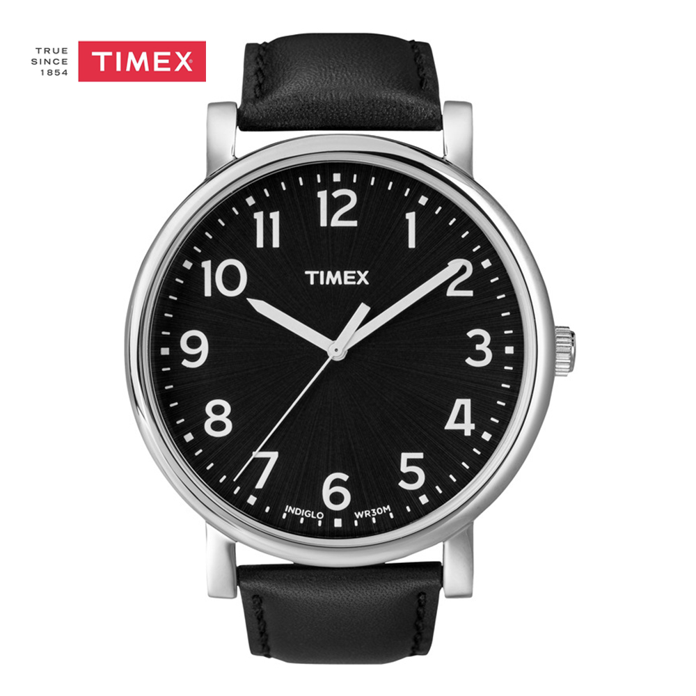 Timex Men Watch T2N339 Leather Strap Wrist Watch Quartz Indiglo Luminous for Men Women timex timex t2n339