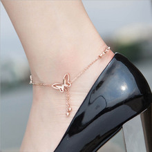 Charm Butterfly Feet Anklet Jewelry Fashion Gold Chains Anklets For Women Party Foot Bracelet Jewelry Gift Fashion Accessories