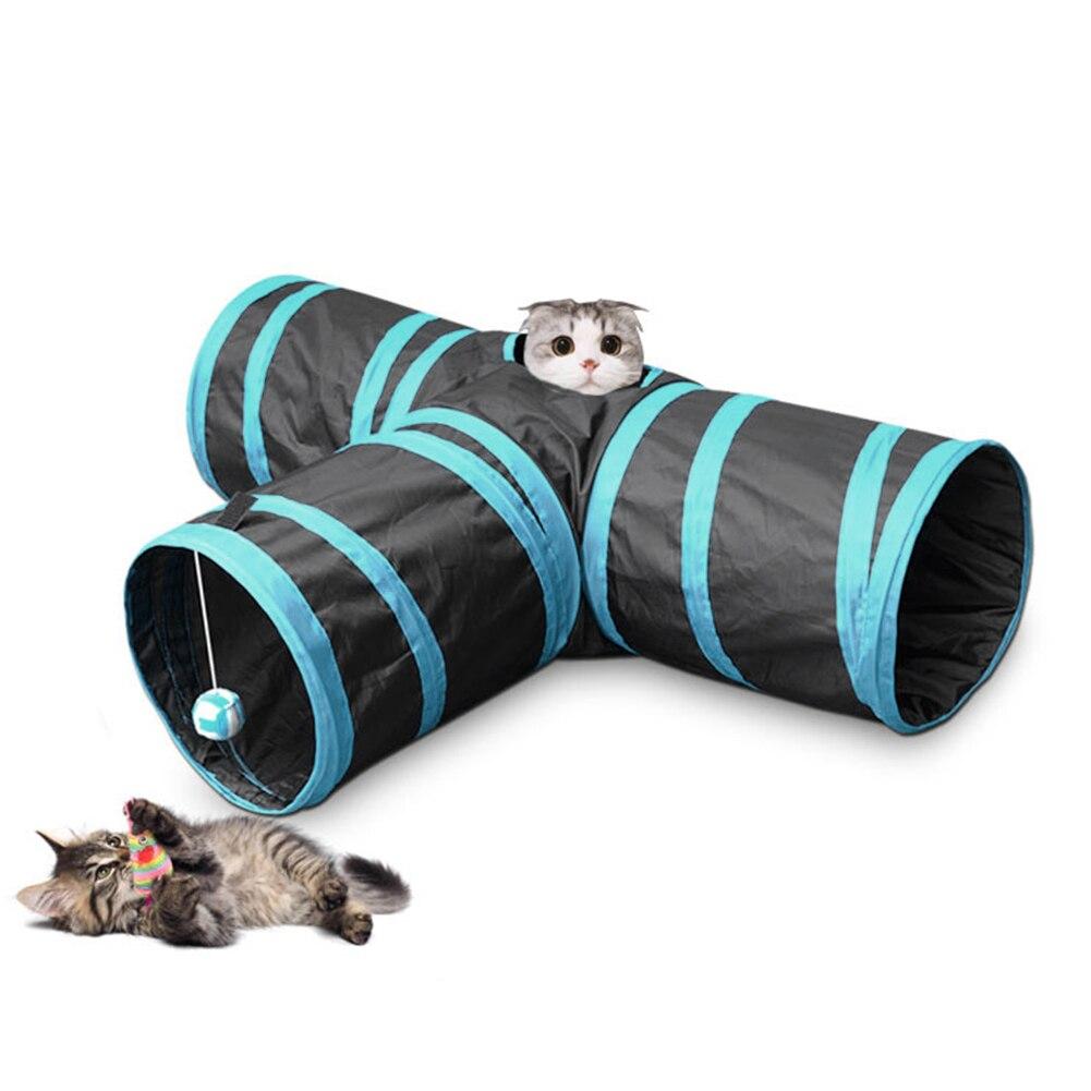 Tinghao Pet Животные мягкие Товары для кошек туннель Игрушечные лошадки трубки ткань убежище игры складной домой шар