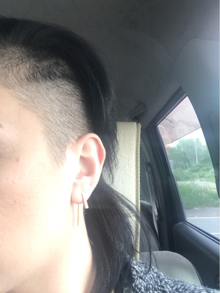 Punk Style Minimalist T Bar Stud Earrings*