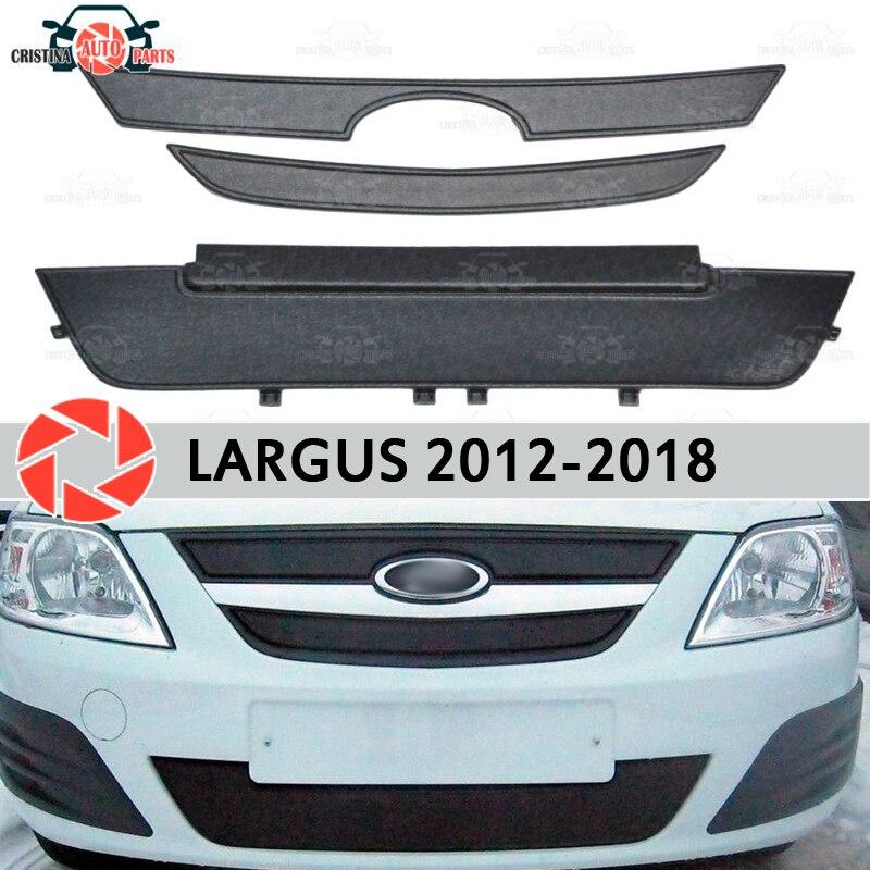 Inverno tampa do radiador para Lada Largus 2012-2018 plástico ABS front bumper car styling acessórios de decoração em relevo