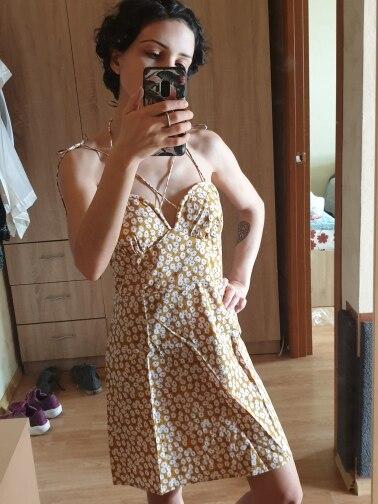Robe Femme Cotton Fashion Summer Dress Women Chic Beach Party Dress Lace Up Sexy Mini Dress Vestidos photo review