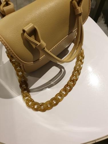 120CM 60cm jelly kleur vrouwen transparant acryl Hars Keten tas riem gemakkelijk bijpassende lady schoudertas riemen Accessoires photo review