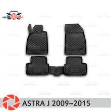 Коврики для Opel Astra J 2009 ~ 2015 ковры Нескользящие полиуретановые грязи защиты интерьер автомобиля средства укладки волос