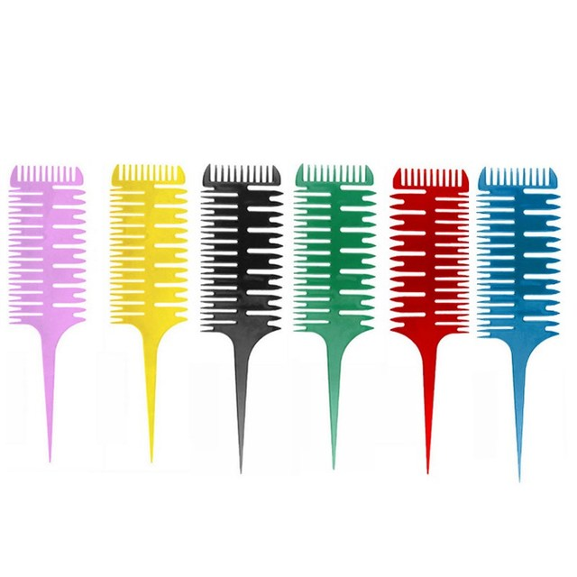 Hair Dyeing Sectioning Highlighting Comb Pointed Tail Brush With