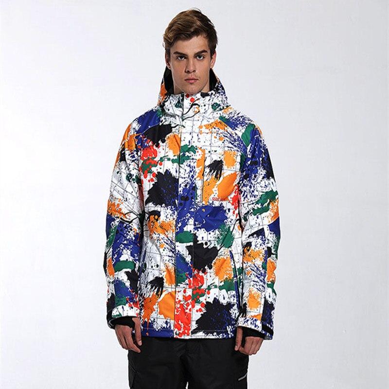 GSOU neige marque veste de Ski hommes Ski Snowboard veste coupe-vent imperméable thermique Super chaud vêtements mâle respirant manteau nouveau