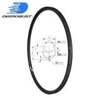 Tubeless ready Klammer 700c 24mm tiefe 23mm breite Rennrad Carbon Felge UD 3 K TwillBicycle Felgen Rad basalt Brems Oberfläche|Fahrrad-Rad|Sport und Unterhaltung -
