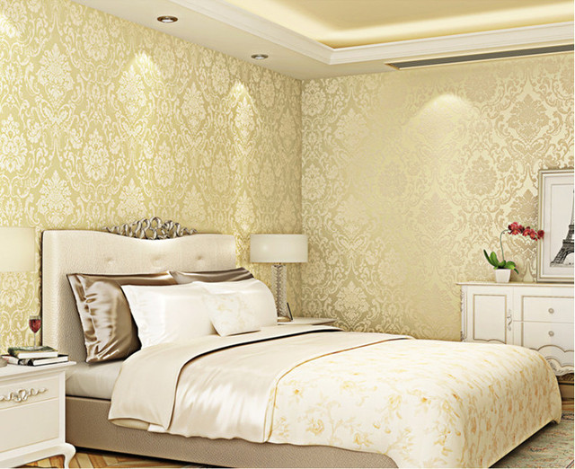 Luxury Classic Wall Paper Home Decor Background Wall Damask ...