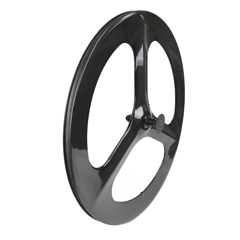 700c 3 spoke carbon wheel bicycle tri spoke wheel for road or track bike Front+Rear 3 Spoke Wheels